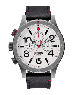 Ρολόι Nixon The 48-20 Chrono Leather A363486