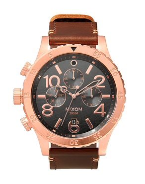 Ρολόι Nixon The 48-20 Chrono Leather A3632001