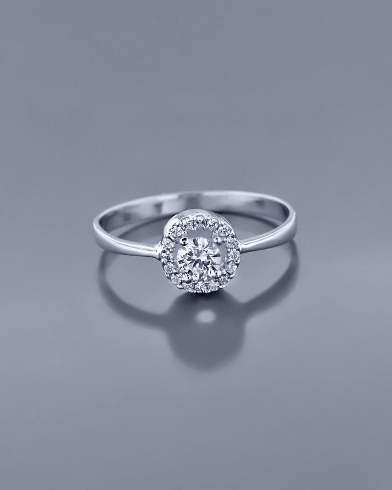 Δαχτυλίδι λευκόχρυσο με Ζιργκόν   γαμοσ νυφικό κόσμημα