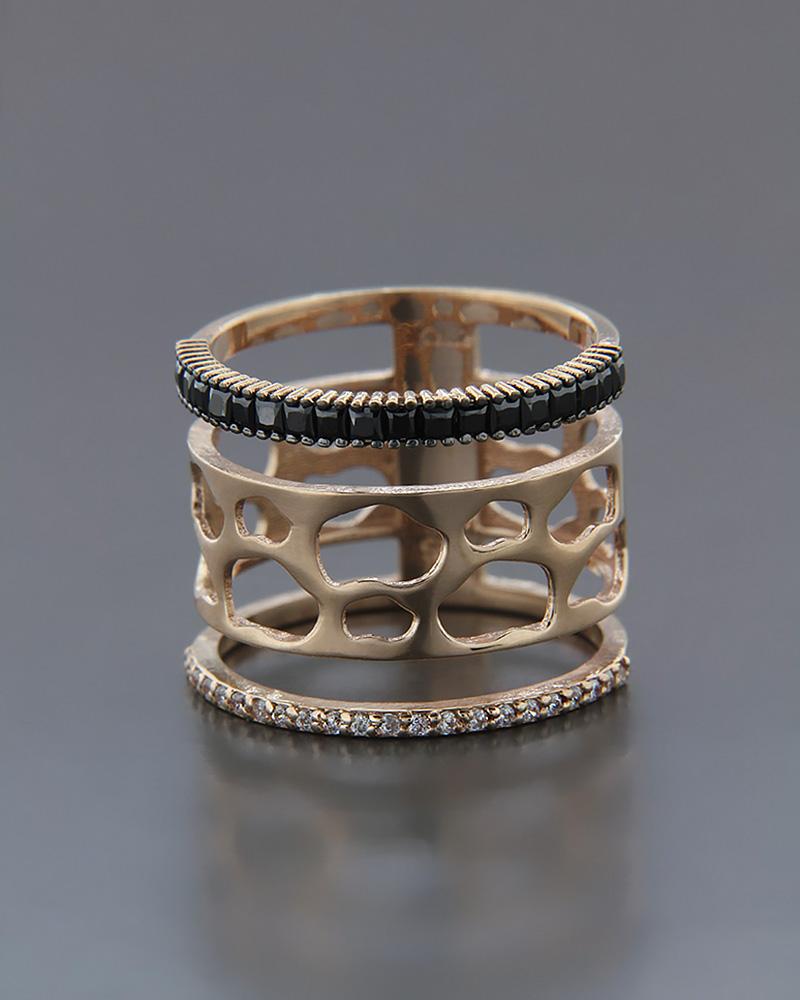 Δαχτυλίδι ροζ χρυσό Κ14   γυναικα δαχτυλίδια δαχτυλίδια χρυσά