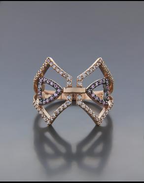 Δαχτυλίδι ροζ χρυσό Κ14 με Ζιργκόν ab11595d122