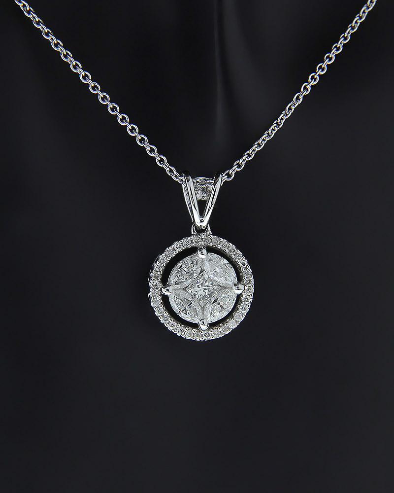 Κρεμαστό λευκόχρυσο Κ18 με Διαμάντια   γυναικα κρεμαστά κολιέ κρεμαστά κολιέ λευκόχρυσα