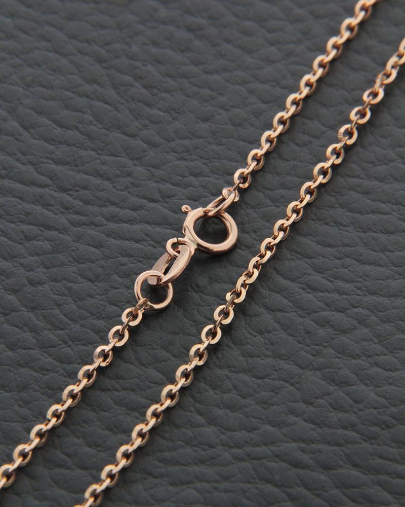 Αλυσίδα λαιμού ροζ χρυσή Κ14 40cm   παιδι αλυσίδες λαιμού αλυσίδες ροζ χρυσό