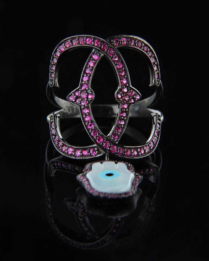 Δαχτυλίδι χρυσό Κ18 με Ρουμπίνια & Φίλντισι   γυναικα δαχτυλίδια δαχτυλίδια διαμάντια