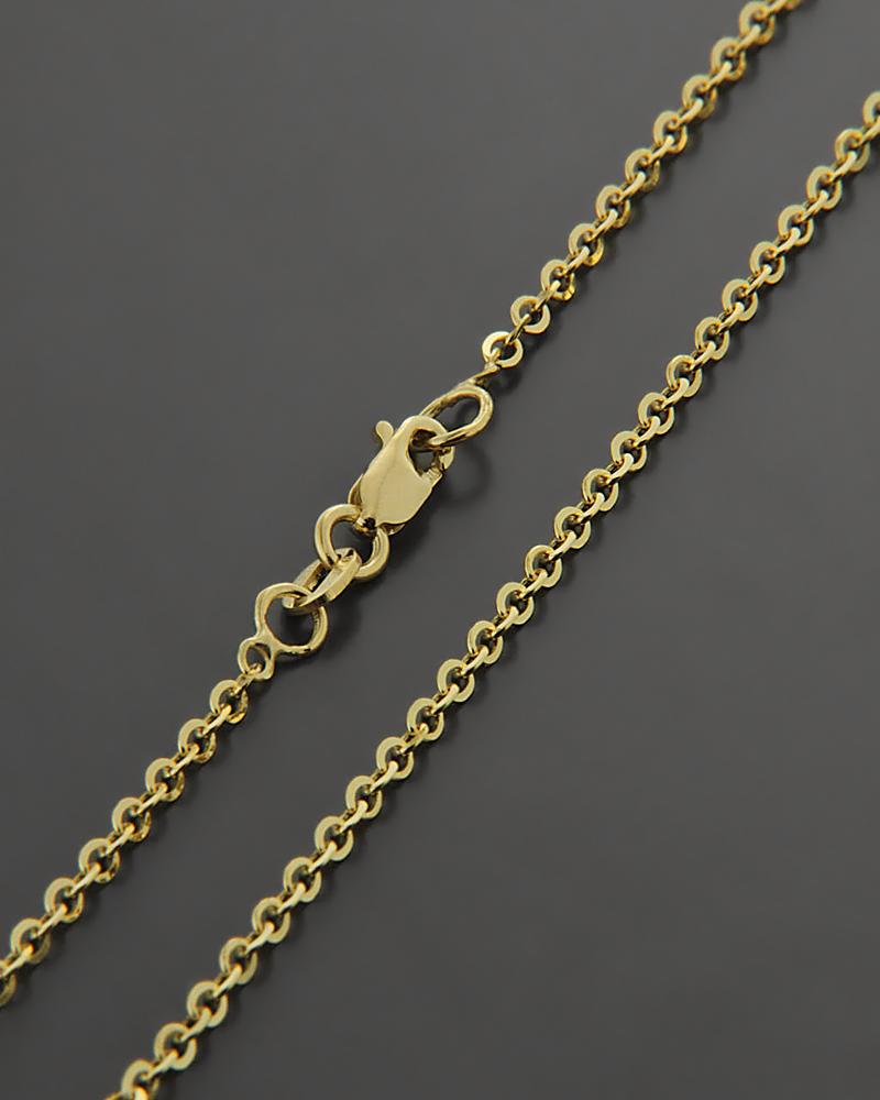 Χρυσή αλυσίδα Κ9 40cm   γυναικα αλυσίδες λαιμού αλυσίδες χρυσές