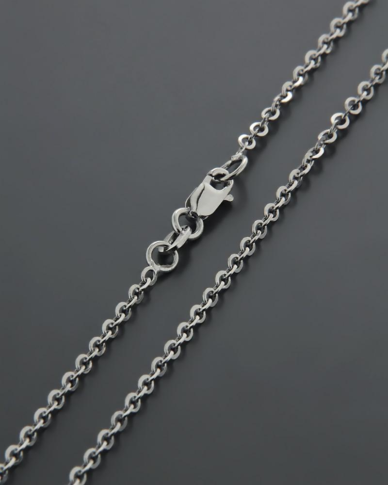 Αλυσίδα λευκόχρυση Κ9 50cm   παιδι αλυσίδες λαιμού αλυσίδες λευκόχρυσες
