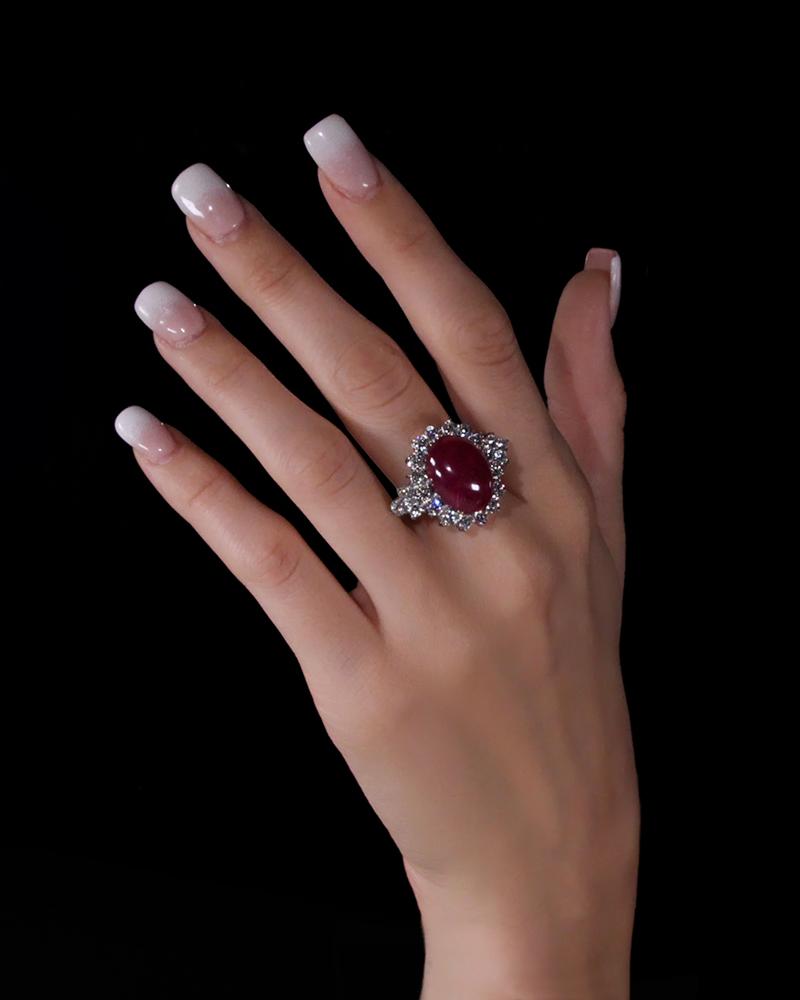 Δαχτυλίδι λευκόχρυσο Κ18 με Ρουμπίνι   Διαμάντια  8993bdaf124