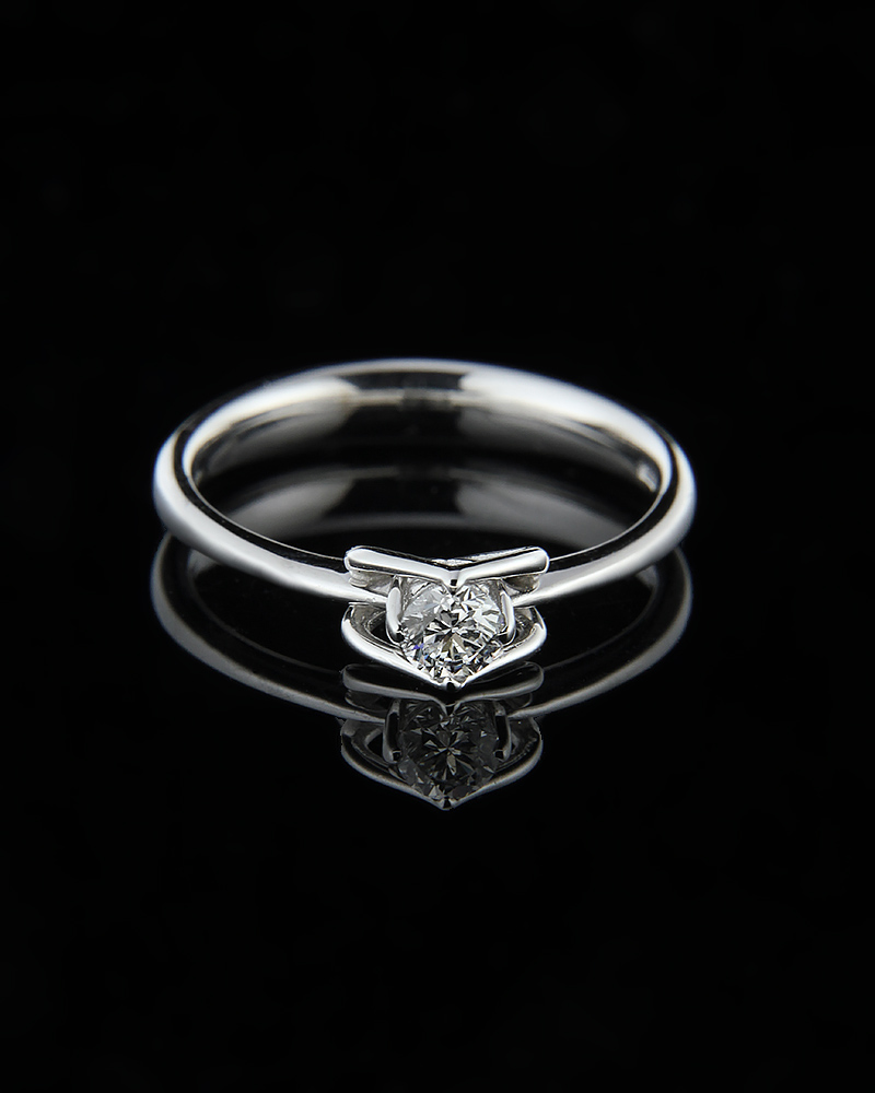 Μονόπετρο δαχτυλίδι λευκόχρυσο Κ18 με Διαμάντι   ζησε το μυθο μονόπετρα μονοπετρα με διαμάντια