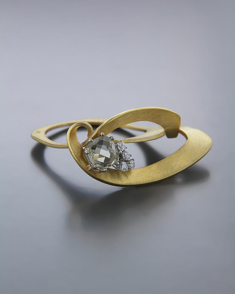Χειροποίητο Δαχτυλίδι χρυσό Κ14 με Citrin & Ζιργκόν   κοσμηματα δαχτυλίδια δαχτυλίδια fashion