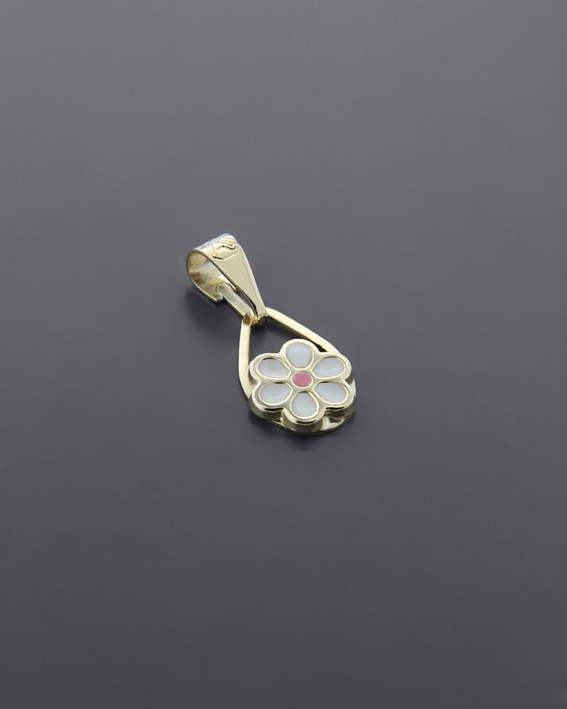 Κρεμαστό χρυσό Κ9 με Σμάλτο   κοσμηματα κρεμαστά κολιέ κρεμαστά κολιέ παιδικά