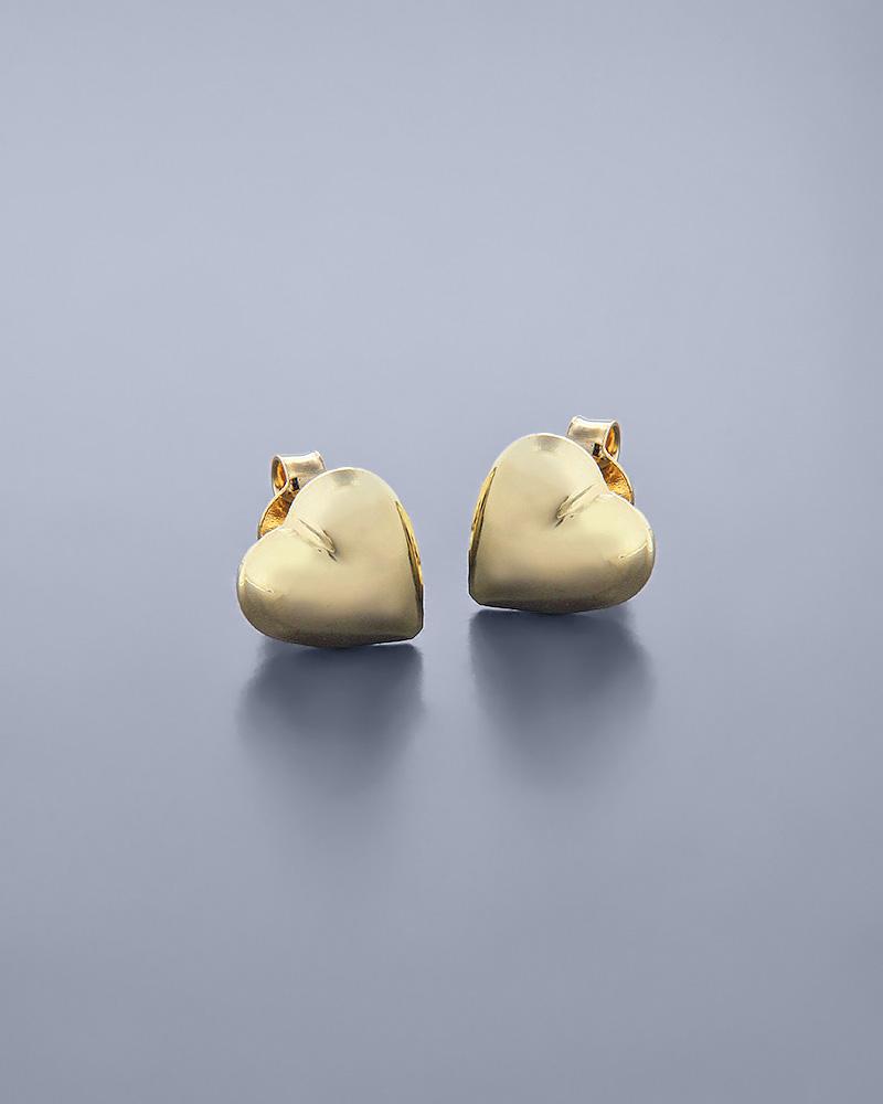 Σκουλαρίκια καρδιές χρυσά Κ14   γυναικα σκουλαρίκια σκουλαρίκια χρυσά