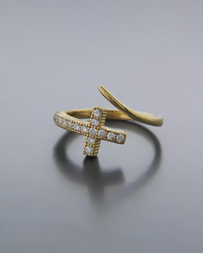 Δαχτυλίδι ασημένιο chevalier 925 με Ζιργκόν   γυναικα δαχτυλίδια δαχτυλίδια chevalier