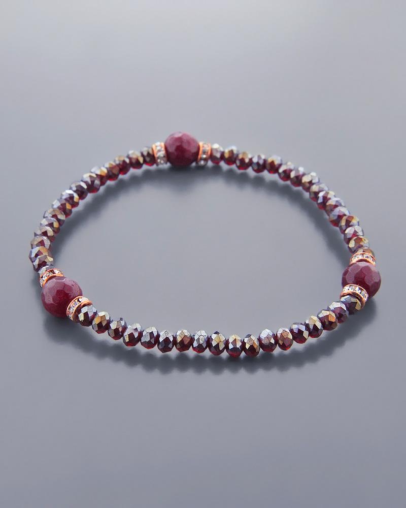 Βραχιόλι Fashion με Garnet   κοσμηματα βραχιόλια βραχιόλια ημιπολύτιμοι λίθοι