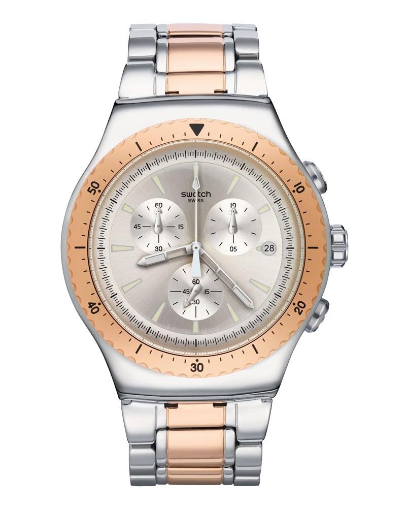 Ρολόι SWATCH So Biggar Two Tone Chronograph YOS452G   ρολογια swatch