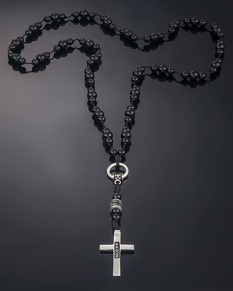 Κολιέ Ροζάριο ασημένιο   κοσμηματα σταυροί σταυροί ασημένιοι