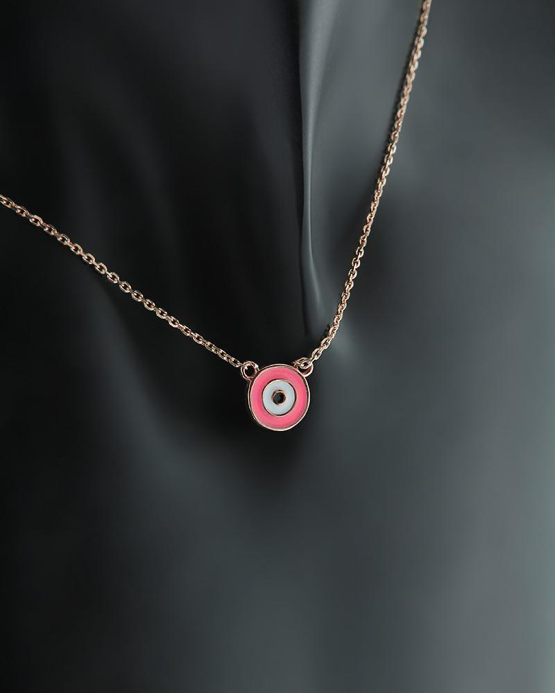Ασημένιο κολιέ Ματάκι με Σμάλτο   γυναικα κοσμήματα με ματάκι
