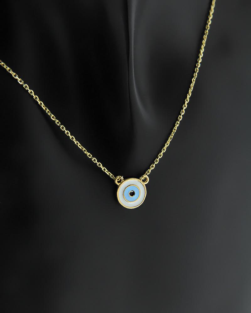 Κολιέ ματάκι ασημένιο με Σμάλτο   γυναικα κοσμήματα με ματάκι