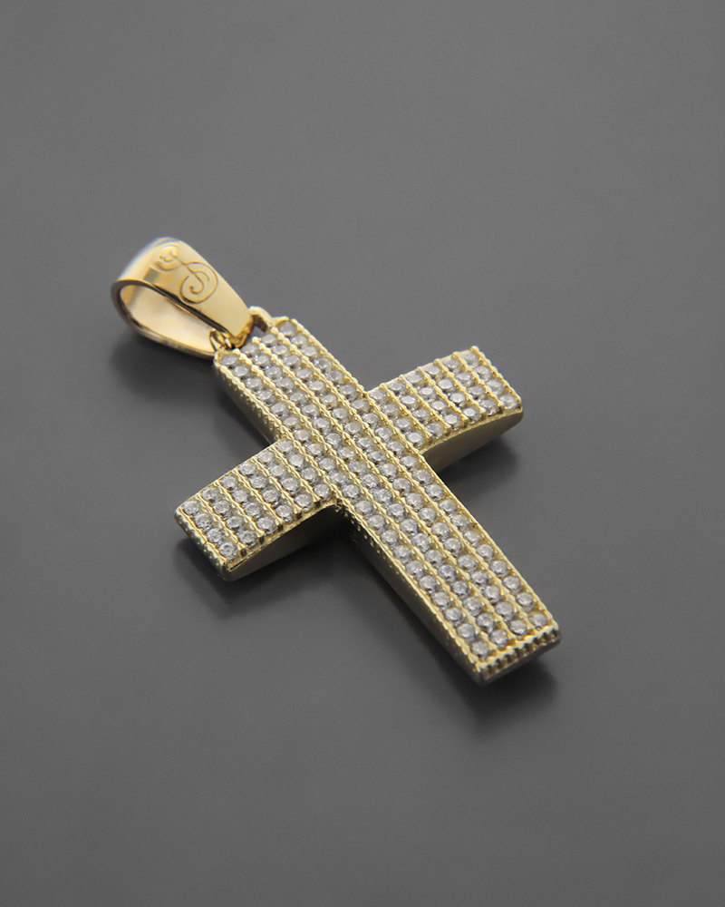 Σταυρός Βάπτισης δύο όψεων Χρυσός Κ14   παιδι βαπτιστικοί σταυροί βαπτιστικοί σταυροί για κορίτσι
