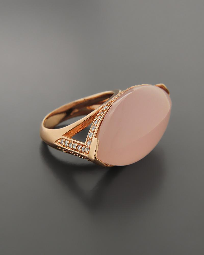 Δαχτυλίδι Ασημένιο 925 με Quartz & Ζιργκόν