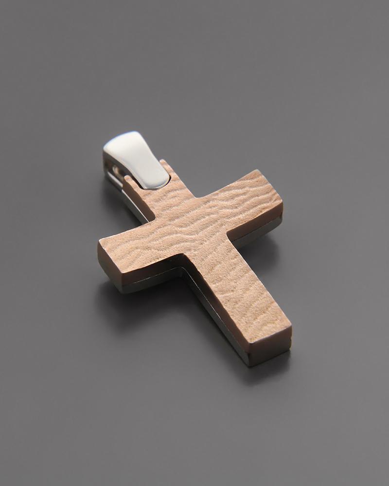 Σταυρός Βάπτισης Ροζ χρυσός & Λευκόχρυσος Κ14   γυναικα σταυροί σταυροί λευκόχρυσοι