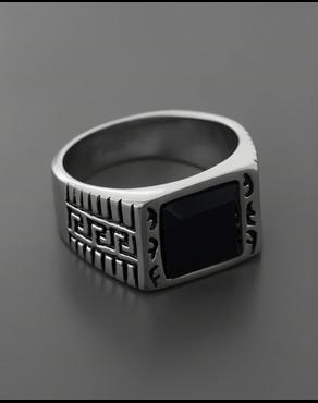 Δαχτυλίδι από ατσάλι με κρύσταλλο 18c9b17e408
