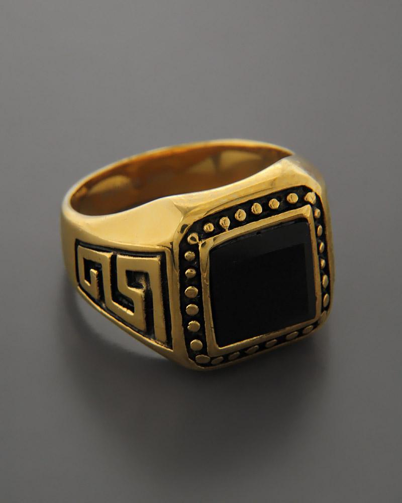 Ατσάλινο Δαχτυλίδι με κρύσταλλο   κοσμηματα δαχτυλίδια δαχτυλίδια ανδρικά