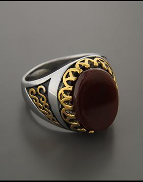 Δαχτυλίδι από ατσάλι με Κρύσταλλο b89f3d5bb68