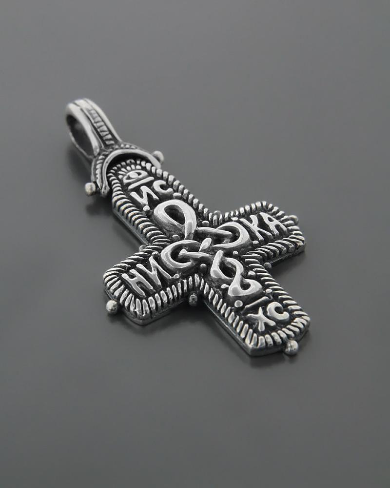 Σταυρός ανδρικός ασημένιος 925