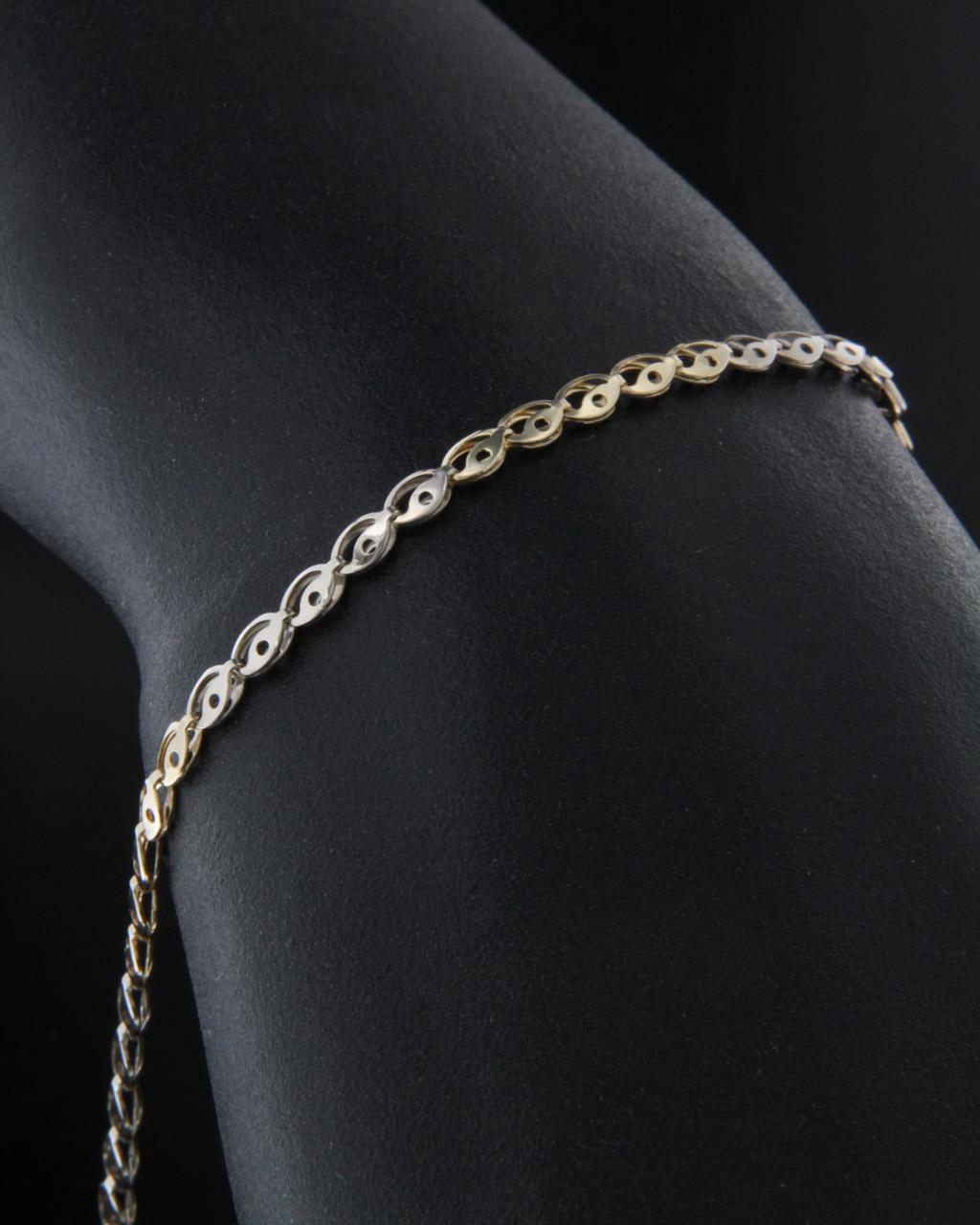 Βραχιόλι από κίτρινο χρυσό & λευκόχρυσο Κ9   νεεσ αφιξεισ κοσμήματα γυναικεία