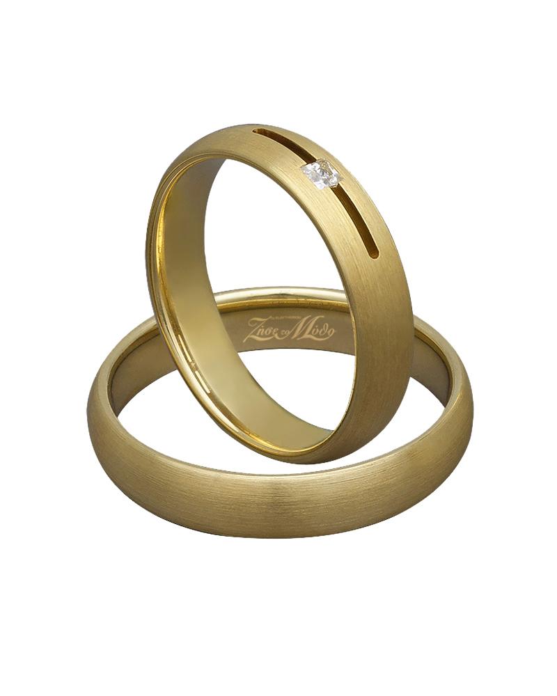 Βέρα χειροποίητη σε χρυσό με διαμάντι XV00285   γαμοσ βέρες γάμου   αρραβώνα βέρες χρυσές
