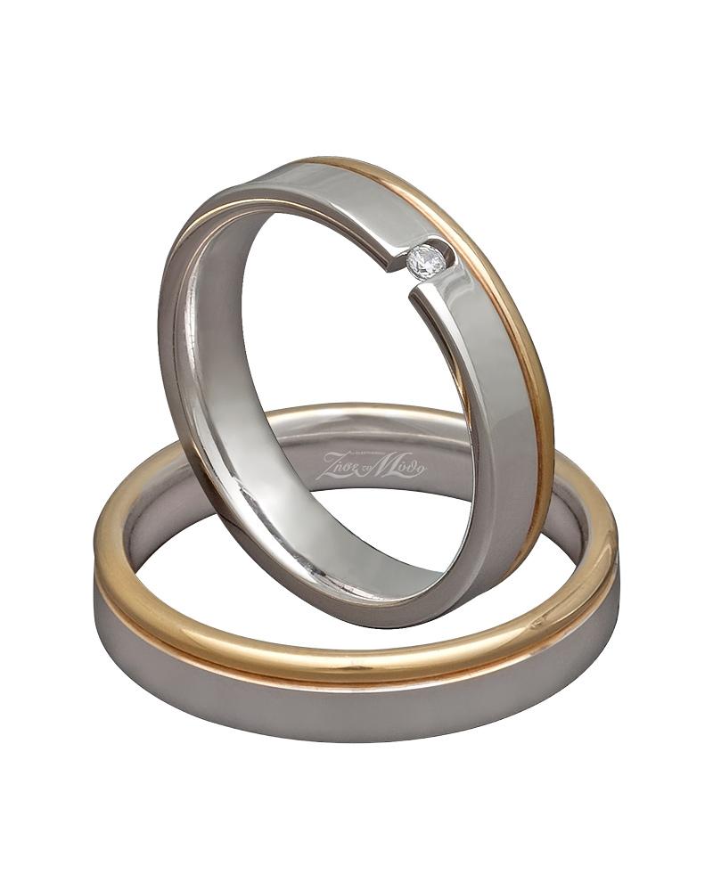 Βέρα χειροποίητη σε λευκόχρυσο & χρυσό XV00280   γαμοσ βέρες γάμου   αρραβώνα βέρες δίχρωμες
