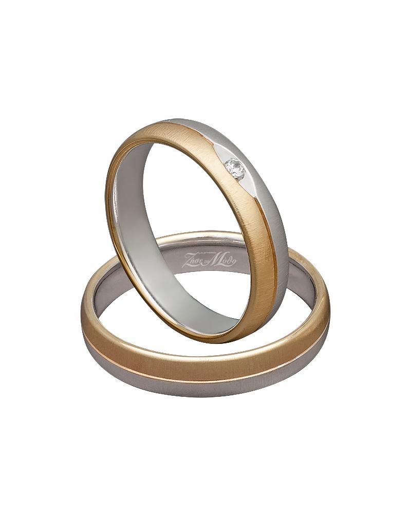 Βέρα δίχρωμη με λευκόχρυσο & κίτρινο χρυσό XV00298   γαμοσ βέρες γάμου   αρραβώνα βέρες δίχρωμες