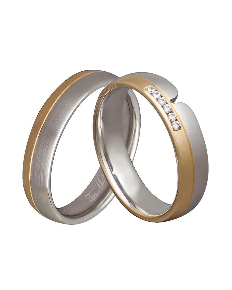 Βέρα χειροποίητη λευκόχρυση & χρυσή με διαμάντια XV00295   γαμοσ βέρες γάμου   αρραβώνα βέρες δίχρωμες