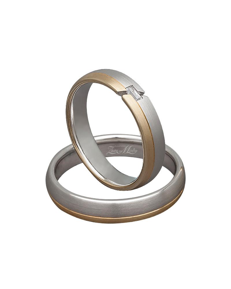 Βέρα χειροποίητη χρυσή & λευκόχρυση με διαμάντι XV00304   γαμοσ βέρες γάμου   αρραβώνα βέρες δίχρωμες