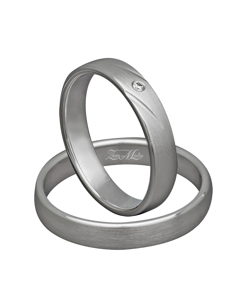 Βέρα χειροποίητη Κ14 λευκόχρυση με διαμάντι XV00311   ζησε το μυθο βέρες γάμου   αρραβώνα βέρες λευκόχρυσες