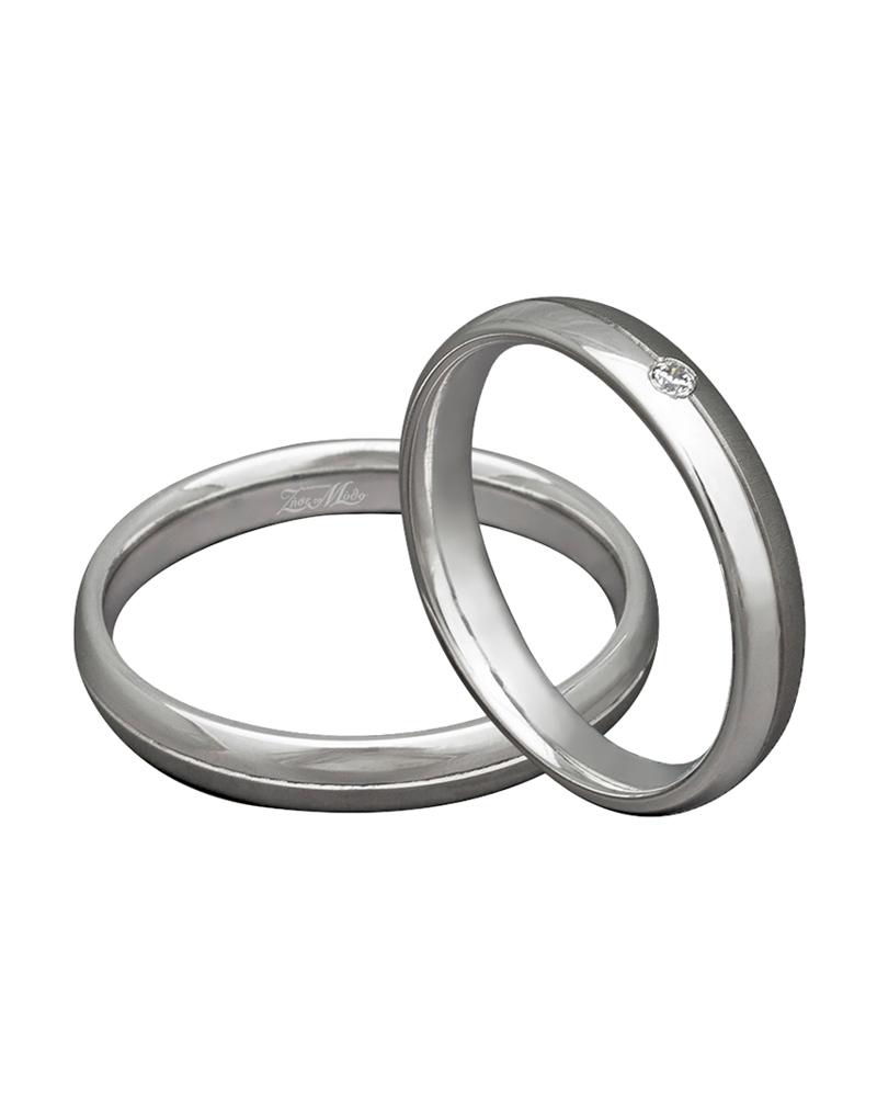 Βέρα χειροποίητη λευκόχρυση κ14 με διαμάντι XV00262   γαμοσ βέρες γάμου   αρραβώνα βέρες λευκόχρυσες
