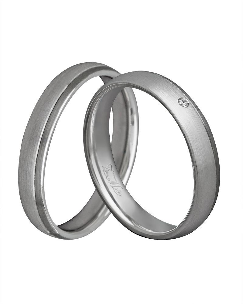 Βέρα χειροποίητη λευκόχρυση κ14 με διαμάντι XV00270   γαμοσ βέρες γάμου   αρραβώνα βέρες λευκόχρυσες