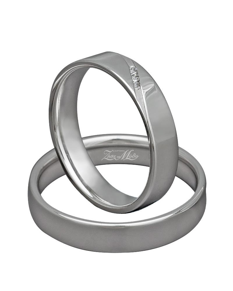 Βέρα χειροποίητη λευκόχρυση κ14 με διαμάντια XV00305   γαμοσ βέρες γάμου   αρραβώνα βέρες λευκόχρυσες