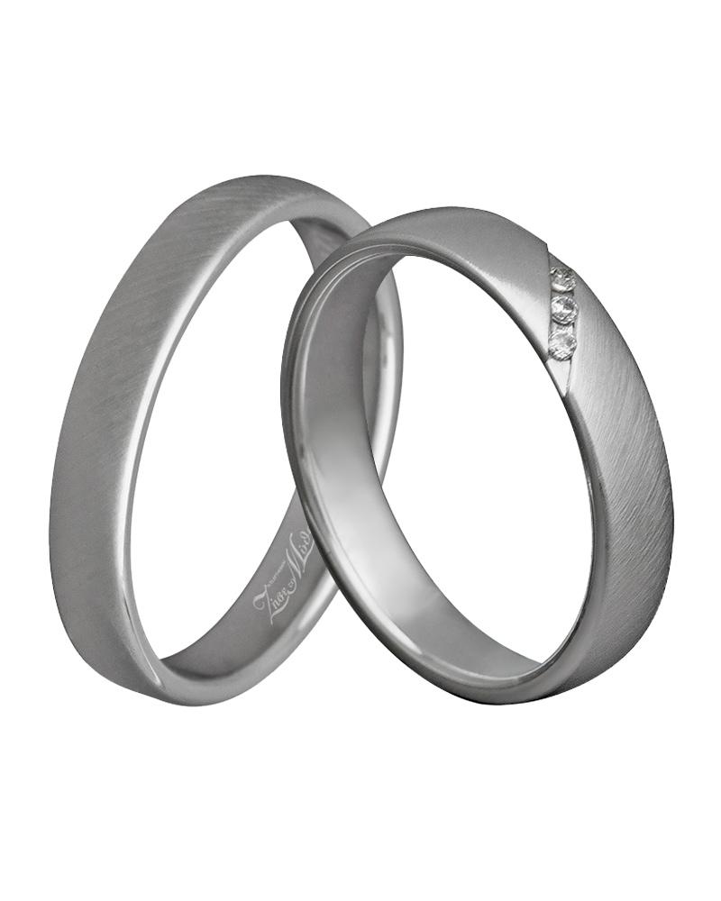 Χειροποίητη βέρα λευκόχρυση κ14 με διαμάντια XV00312   γαμοσ βέρες γάμου   αρραβώνα βέρες λευκόχρυσες