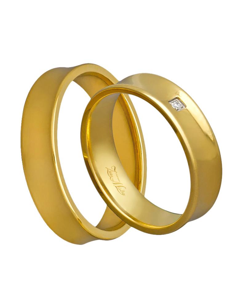 Χειροποίητη βέρα χρυσή κ14 με διαμάντι XV00268   γαμοσ βέρες γάμου   αρραβώνα βέρες χρυσές