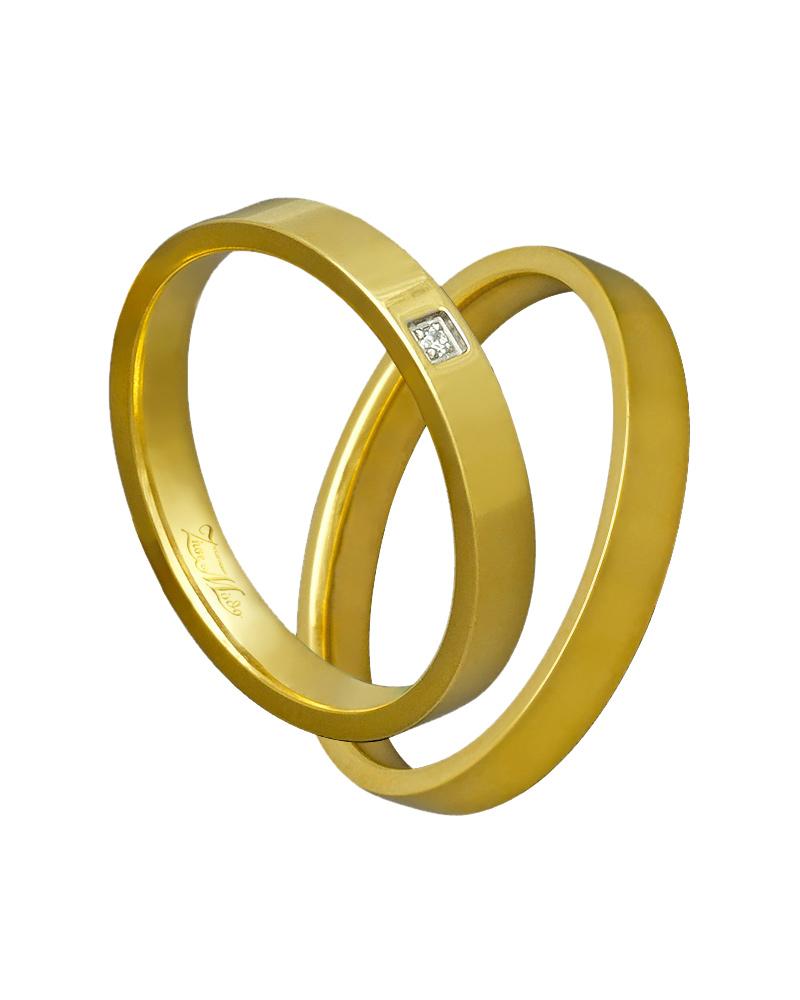 Χειροποίητη βέρα χρυσή κ14 με διαμάντι XV00315   γαμοσ βέρες γάμου   αρραβώνα βέρες χρυσές