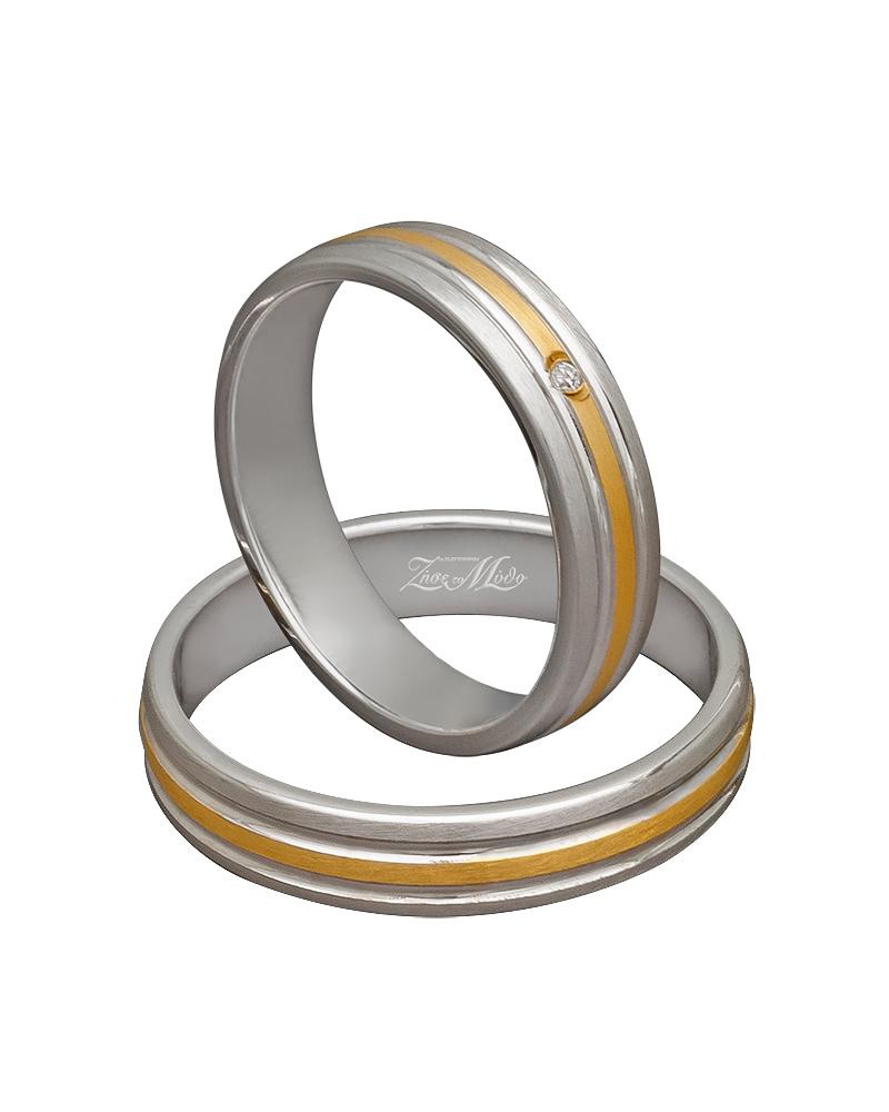 Βέρα χειροποίητη κ14 σε χρυσό & σε λευκόχρυσο με διαμάντι XV0033   γαμοσ βέρες γάμου   αρραβώνα βέρες δίχρωμες