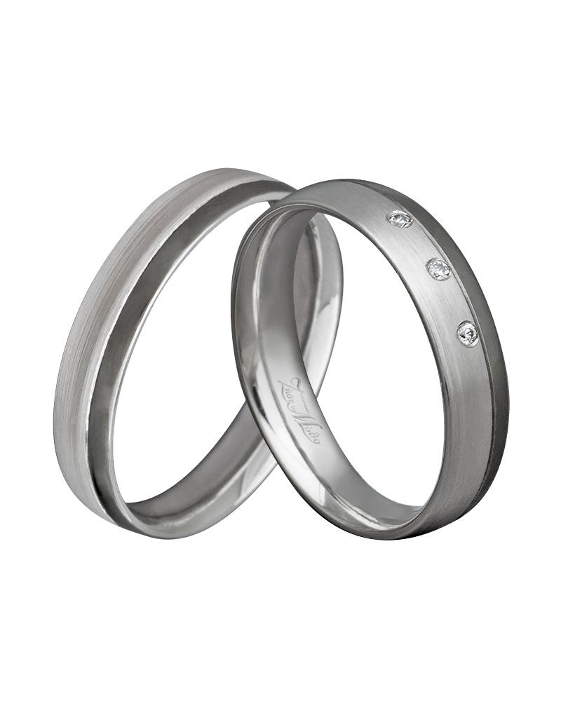 Βέρα χειροποίητη κ14 σε λευκόχρυσο με μαύρο πλατίνωμα XV00273   γαμοσ βέρες γάμου   αρραβώνα βέρες δίχρωμες