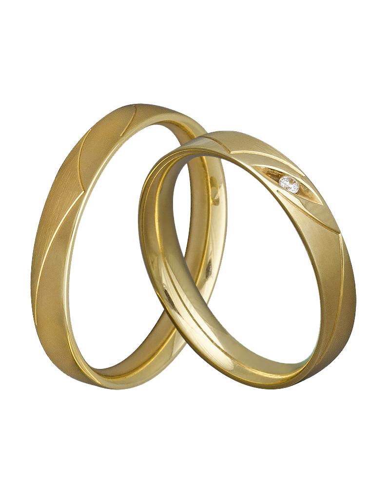 Βέρα χειροποίητη κ14 σε χρυσό με διαμάντι XV00364   γαμοσ βέρες γάμου   αρραβώνα βέρες χρυσές