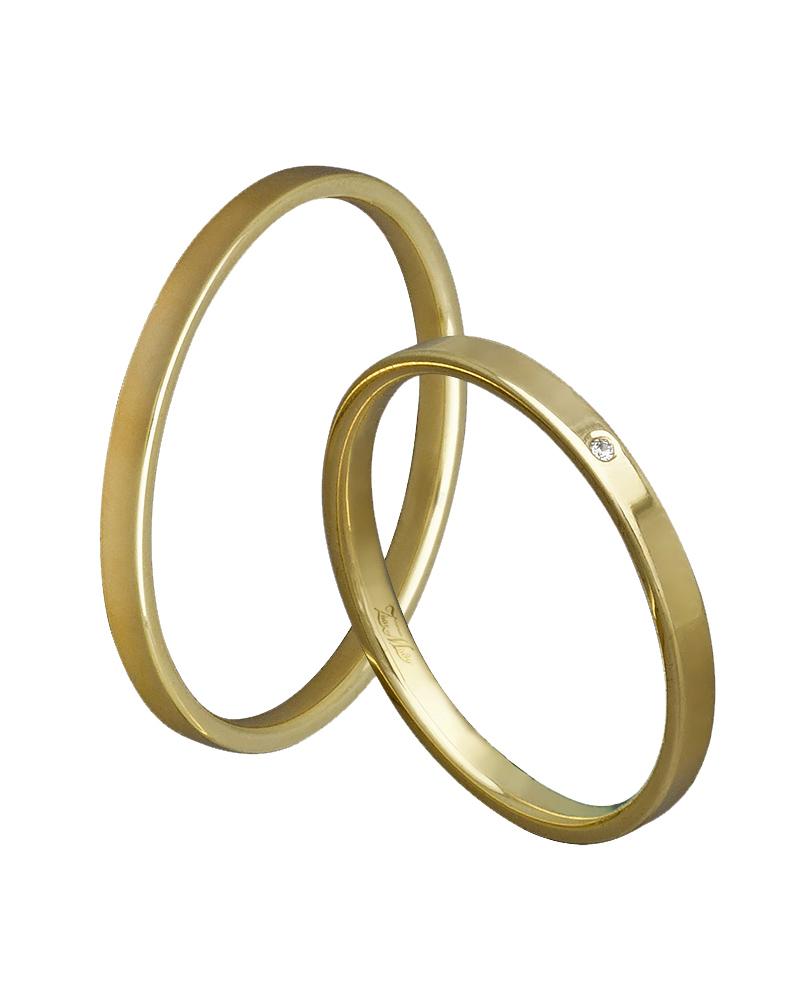 Βέρα χειροποίητη σε χρυσό κ14 με διαμάντι XV00344   γαμοσ βέρες γάμου   αρραβώνα βέρες χρυσές