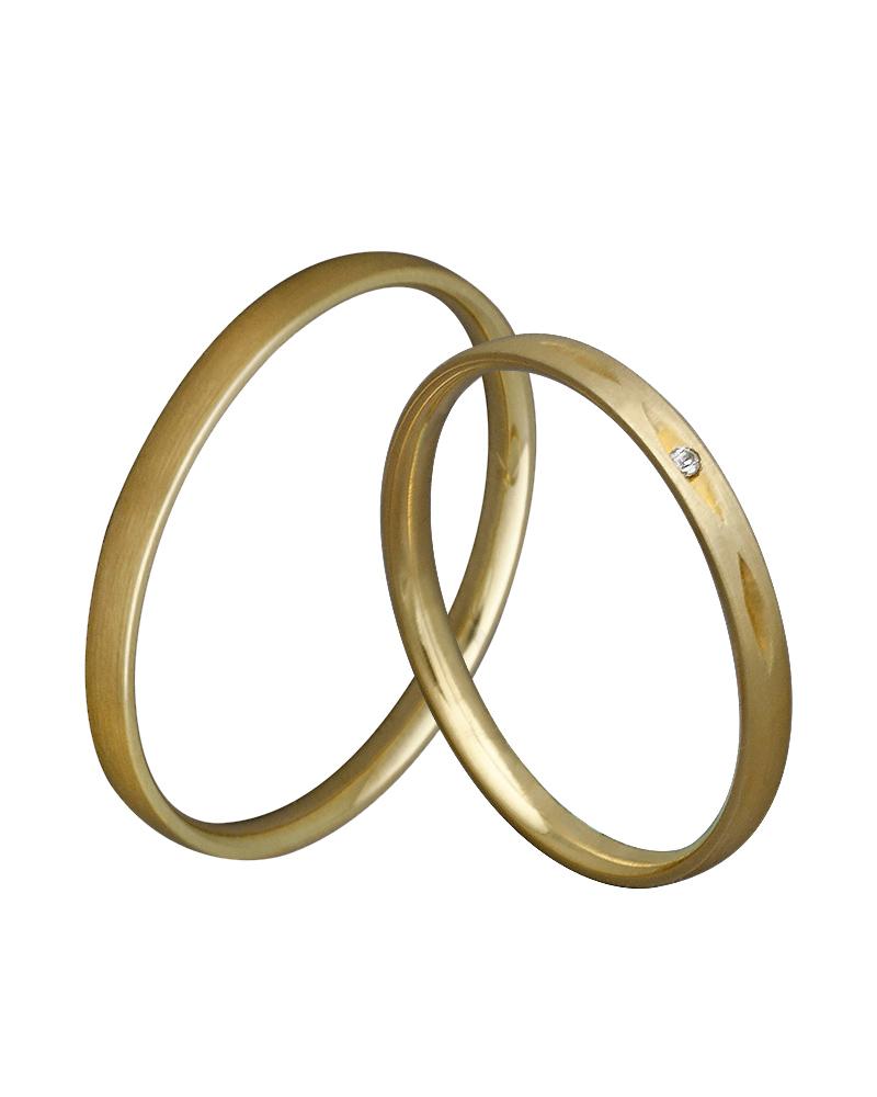 Βέρα χειροποίητη σε χρυσό κ14 με διαμάντι XV00347   γαμοσ βέρες γάμου   αρραβώνα βέρες χρυσές