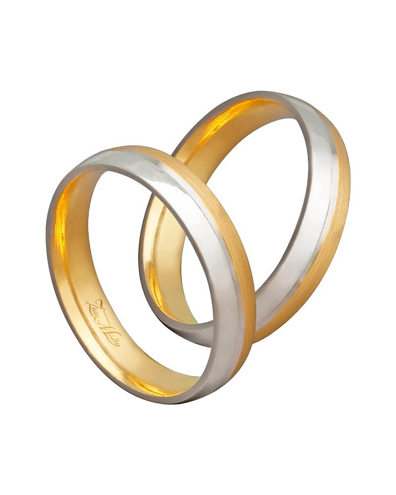 Βέρα χειροποίητη K14 δίχρωμη XV00458   ζησε το μυθο βέρες γάμου   αρραβώνα βέρες δίχρωμες