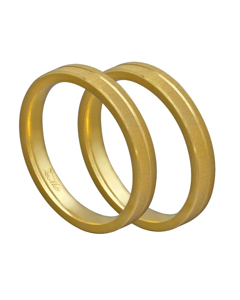 Βέρα χειροποίητη K14 σε χρυσό XV00457   γαμοσ βέρες γάμου   αρραβώνα βέρες χρυσές