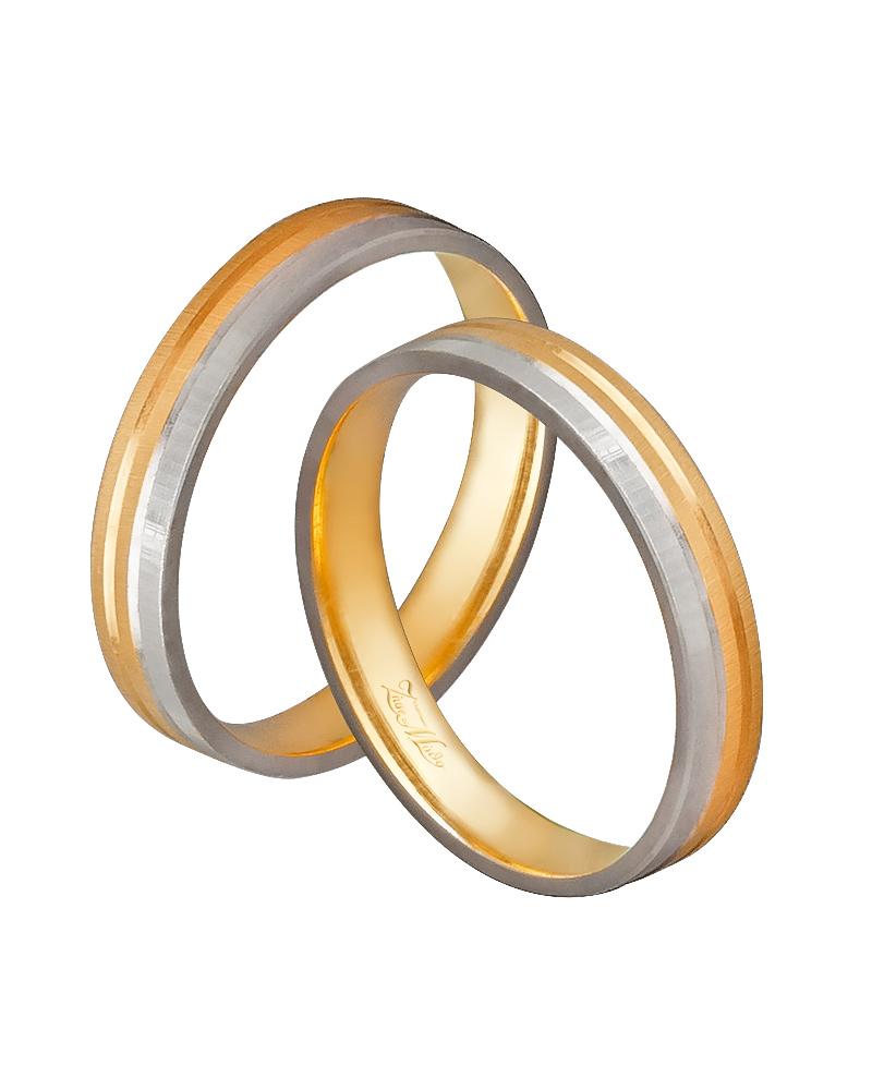 Βέρα χειροποίητη K14 δίχρωμη XV00472   ζησε το μυθο βέρες γάμου   αρραβώνα βέρες δίχρωμες