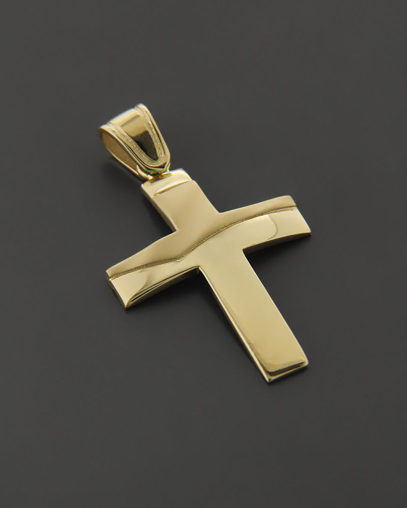 Σταυρός Χρυσός K14 δύο όψεων   παιδι βαπτιστικοί σταυροί βαπτιστικοί σταυροί για αγόρι